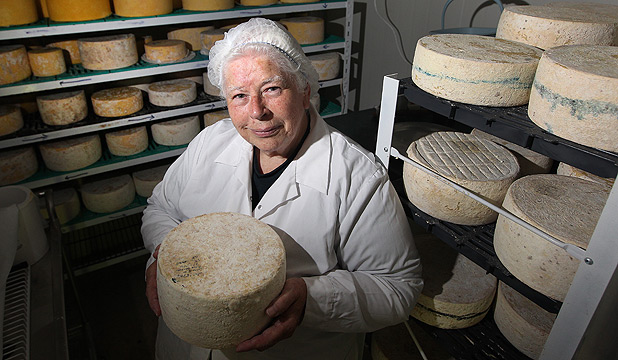 Biddy Fraser-Davies, owner Cwmglyn Farmhouse Cheese, Eketahuna.
