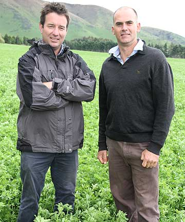 Neat Meat managing director Simon Ericson, left, and Harmony Foods managing director Mark Hunter.