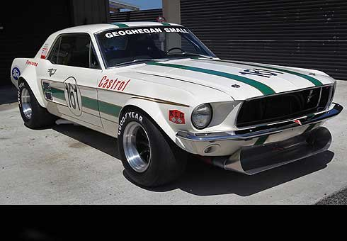 Mike Small's 1967 Mustang which has been turned into a replica of the 1967 Mustang GTA that Australian Ian