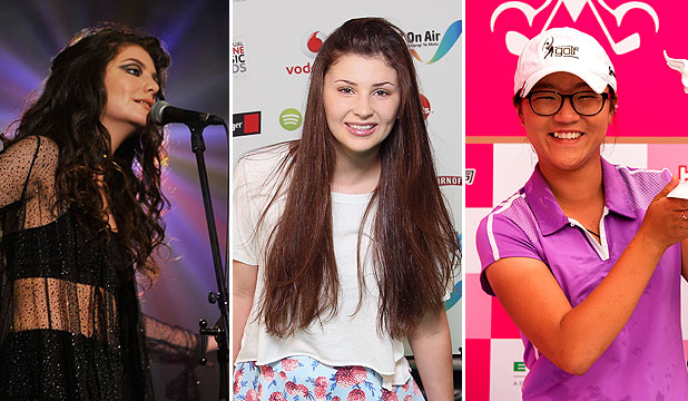 Lorde, Jamie Curry and Lydia Ko