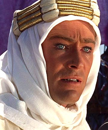 STARRING ROLE: Peter O'Toole as T E Lawrence in the classic film Lawrence of Arabia.