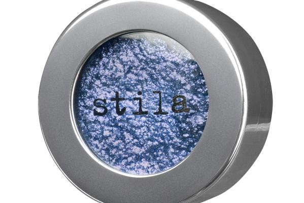 Stila's Magnificent Metals Foil Finish Eyeshadow in Metallic Cobalt, $60, from Mecca Cosmetica