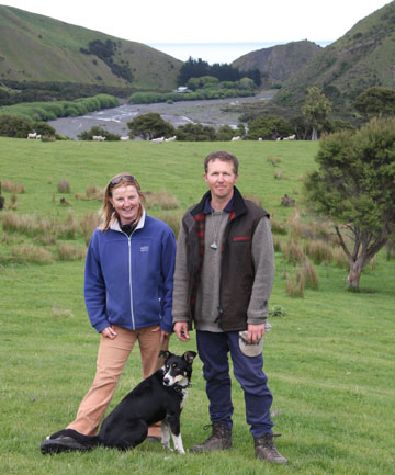 Duncan and Sarah Furniss's small tourism business offers a three-day self-guided walk with fully catered cabins on their 7000-acre sheep and beef property.