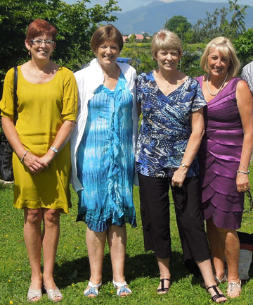 From left: Mary Leech, Jill McMillan, Helen Morriss and Sue Williams.