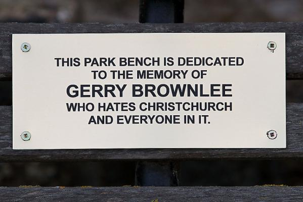 Gerry Brownlee plaque