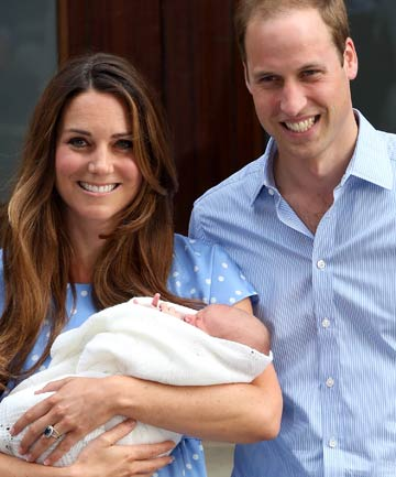 Baby Prince George christened