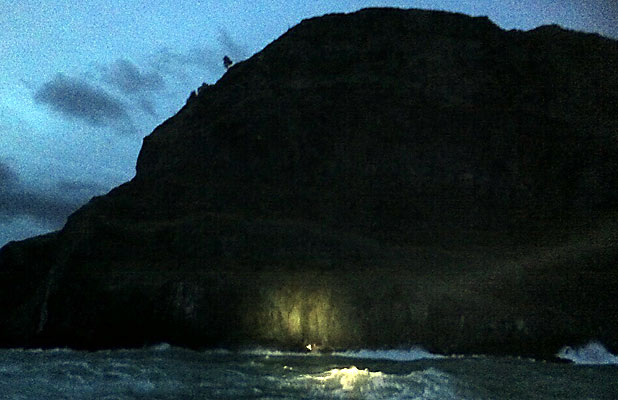 Kayakers found at Godley Head cliffs