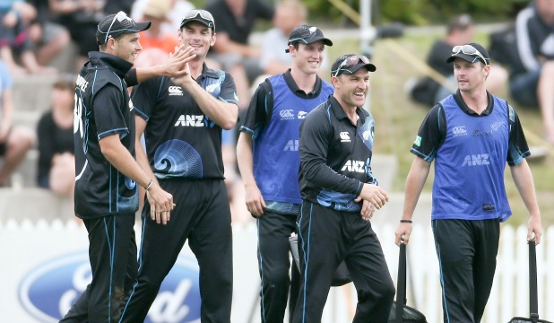 Captain Brendon McCullum and the Black Caps