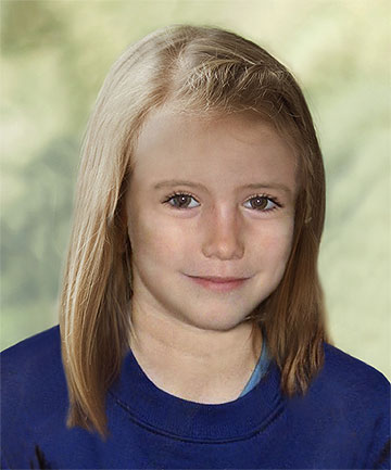 HOW SHE MIGHT LOOK: A computer-generated handout photograph of how Madeleine McCann might look at