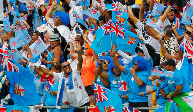 Wellington Sevens Fiji supporters