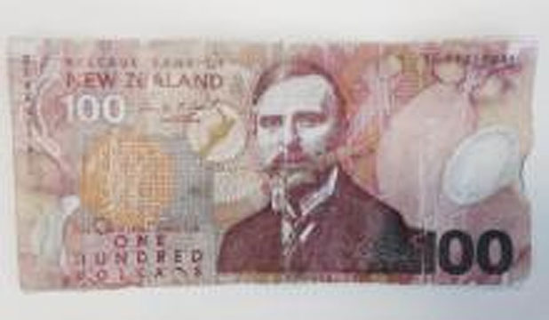 Fake $100 counterfeit note