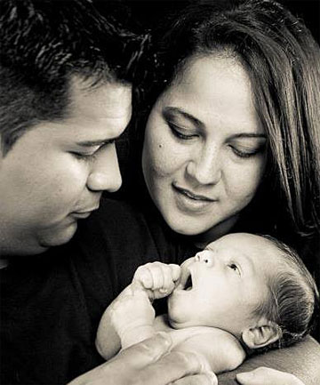 Marlise Munoz, her husband, Erick, and their son, Mateo