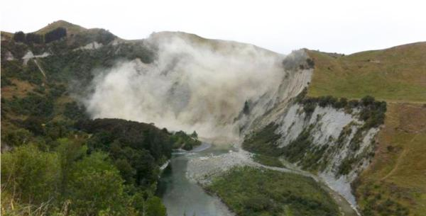 Rangitikei cliffs landslide