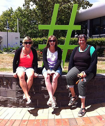 Grantlea Downs teachers Michelle Bray, Kirsty White and Tina Ivamy