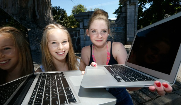 Nelson College for Girls year 11 students Lily Power, left and Mila Robertson