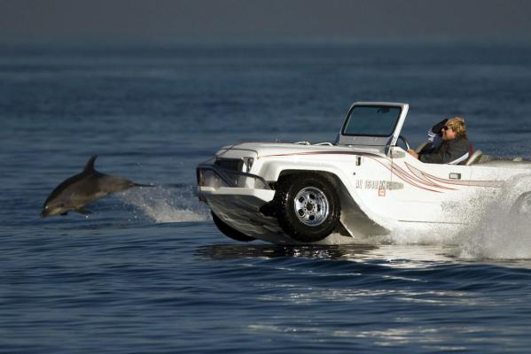 WaterCar test drive