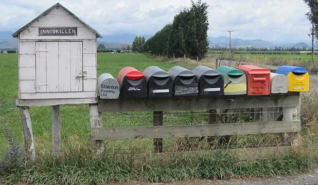 Where Inniskillen was one farm with one mail box, there are now three farms with 10 mail boxes