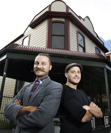 Wellington restaurateurs Lorenzo and Leonardo Bresolin outside the old Bodega building
