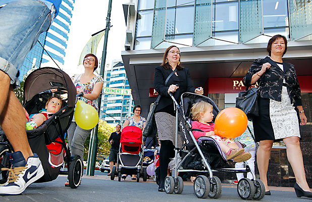 Parental leave protest