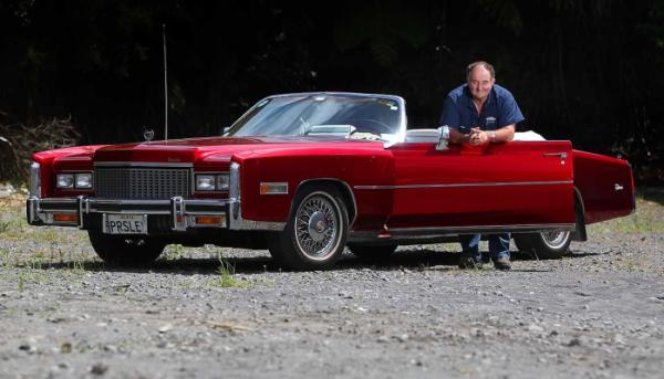 Wayne McCurdy and his 1976 Cadillac Eldorado.