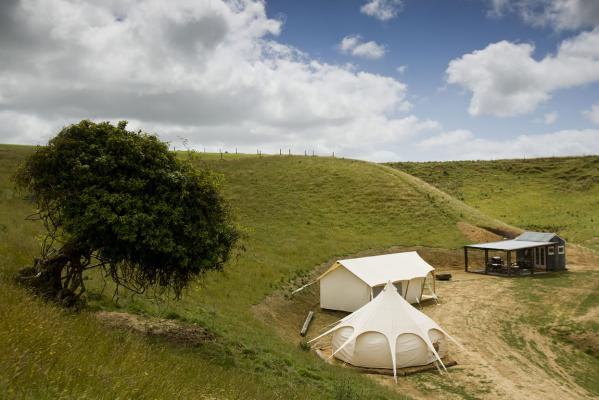 Near Waituna West, Angus and Sarah Gilbertson  have set up the first glamping s