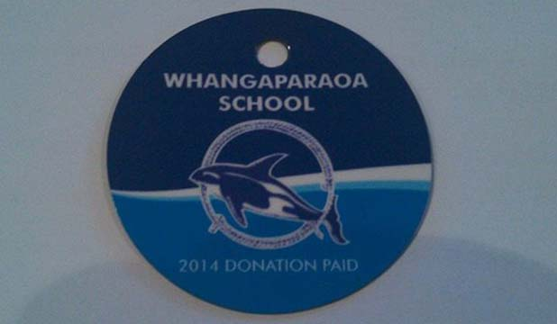 Whangaparaoa Primary School donation tags