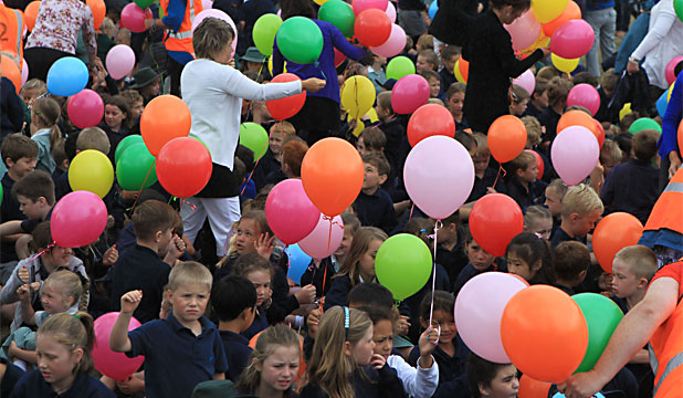 Waitikiri School balloons