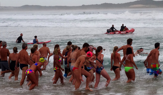 Bate Bay, friends enter water to farewell Casey Kinnard's