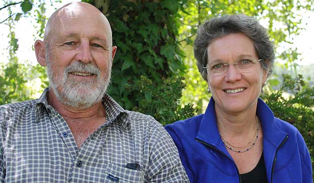 Westview farm managers and equity partners Shane Carroll and Nicola Shadbolt.