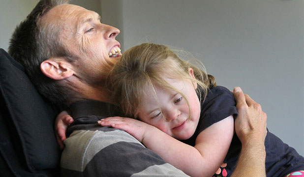 Murray Wilkinson with daughter Lydia, 7