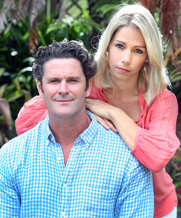 Chris Cairns pictured with wife