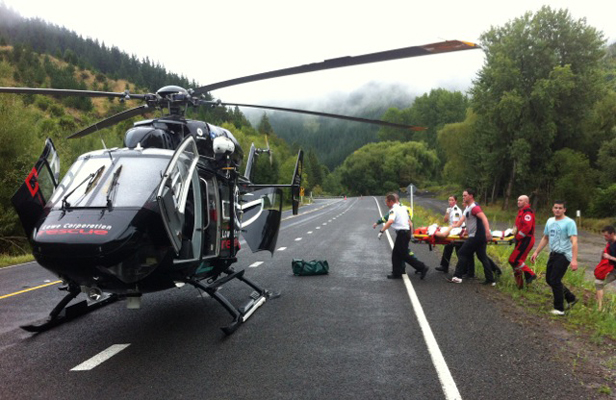 Helicopter rescue - Lowe Corporation - southern Hawke's Bay