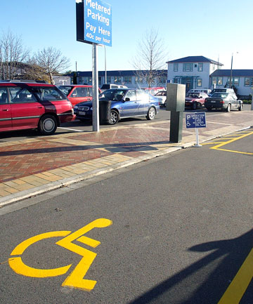 Disabled car park