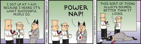 Monday, February 17: Power nap