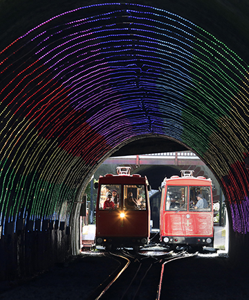 cable car lightshow