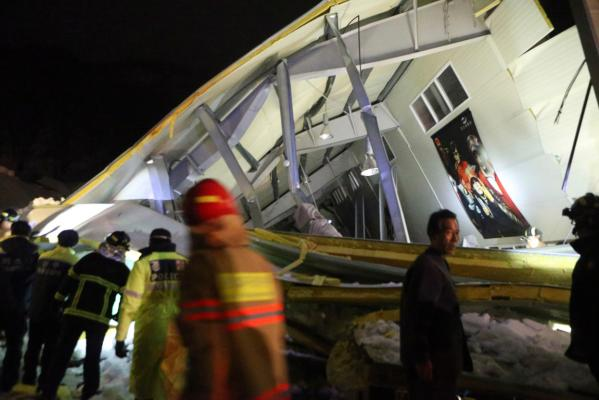 Roof collapses in South Korea