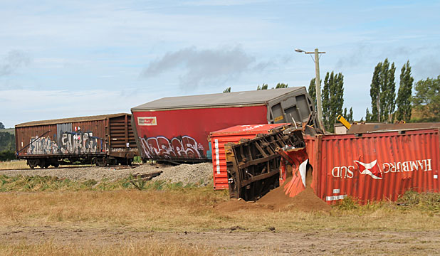 Train derailed near Palmerston