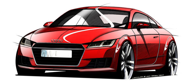 Audi has teased its new Audi TT coupe.