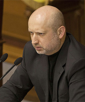 ACTING LEADER: Ukraine's parliament has handed powers temporarily to Oleksander Turchinov.