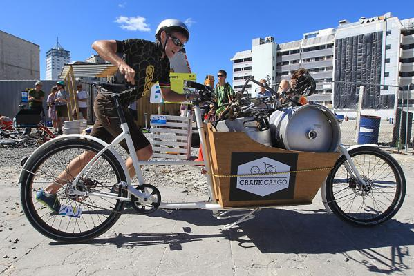 Angus Edmond cargo bike racing