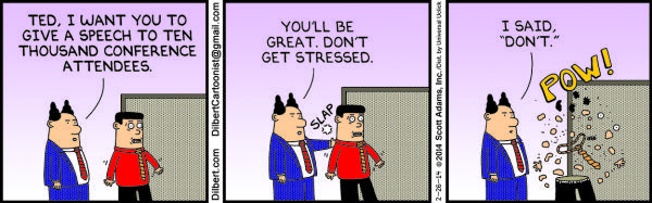 Wednesday, February 26: Don't stress