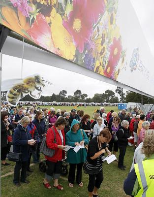 Ellerslie Flower Show's opening day