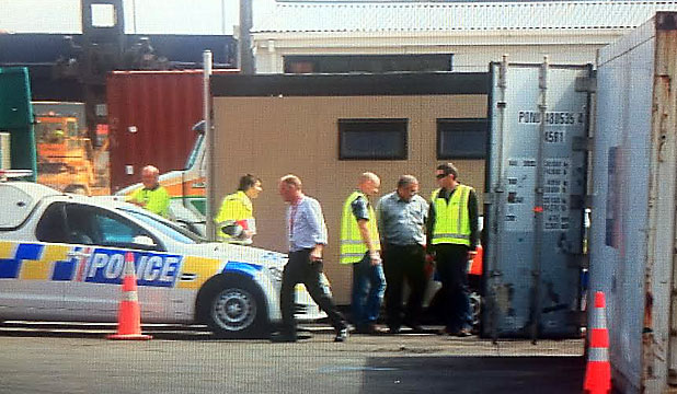 Container raid by policef