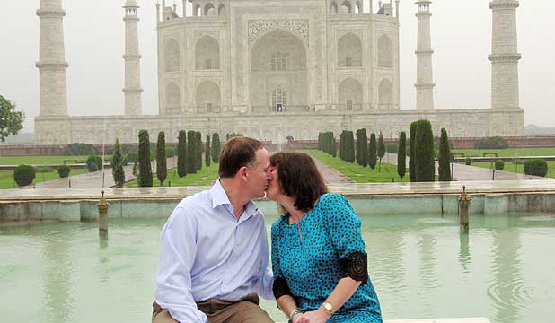 John Key and his wife Bronagh