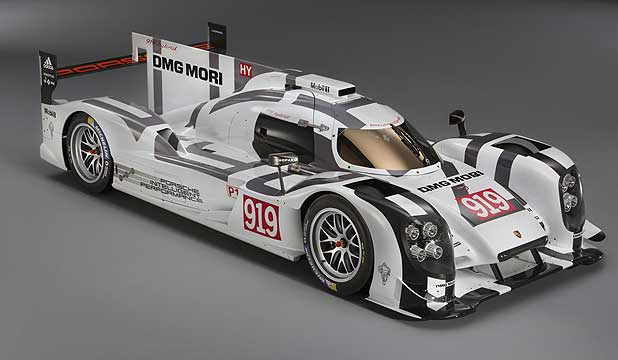 The Porsche 919 Hybrid that will be driven by Brendon Hartley, Mark Webber and Timo Bernhard in the world endurance championship.