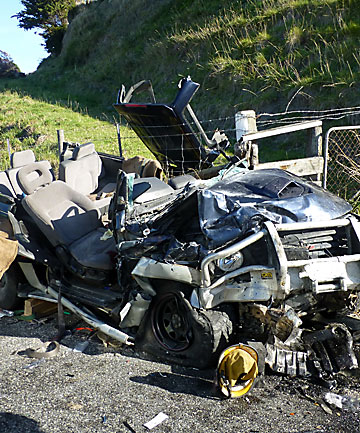 4WD crash near Kaikoura