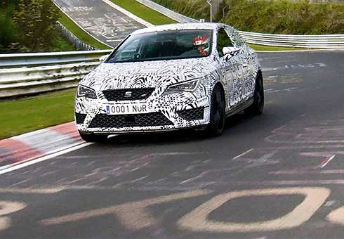 A Seat Leon Cupra 280 has smashed the Nurburgring Nordschleife lap record for a front-wheel drive car.