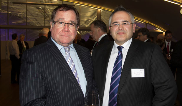 Minister Murray McCully with Michael Vukcevic