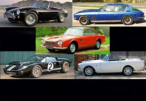 Our pick of the best American-powered British cars.
