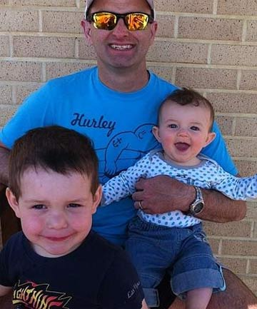 FATHER: Paul Weeks with his two children.